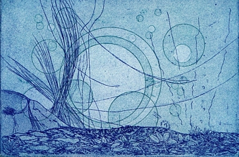 GMorrison, Sea Three, etching